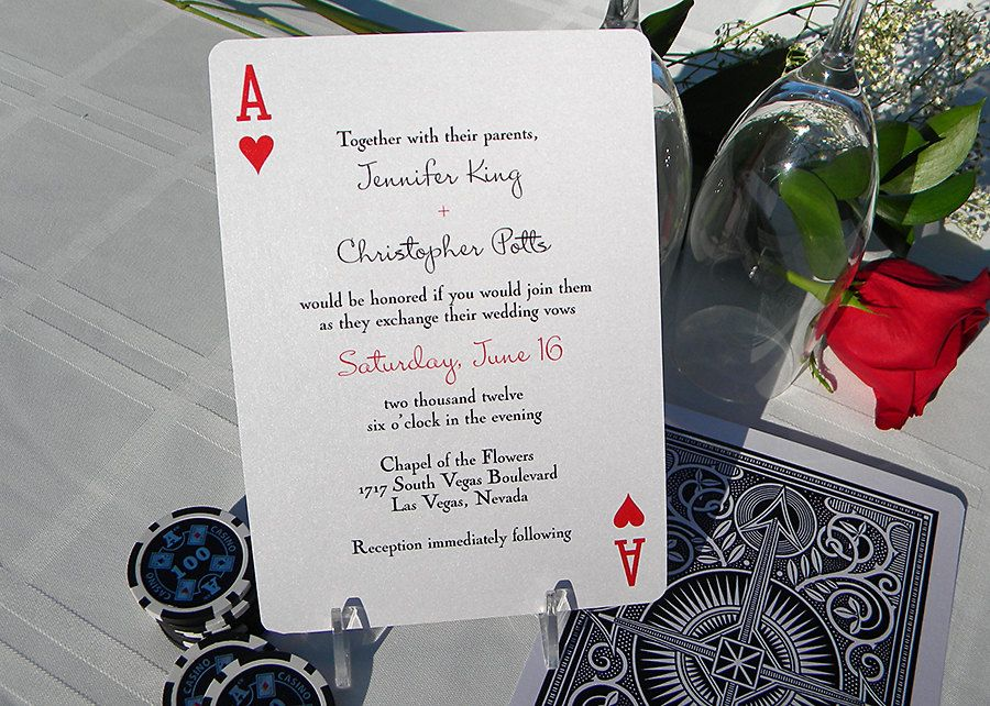 Playing Card Poker Party Invitation Wedding Invitation