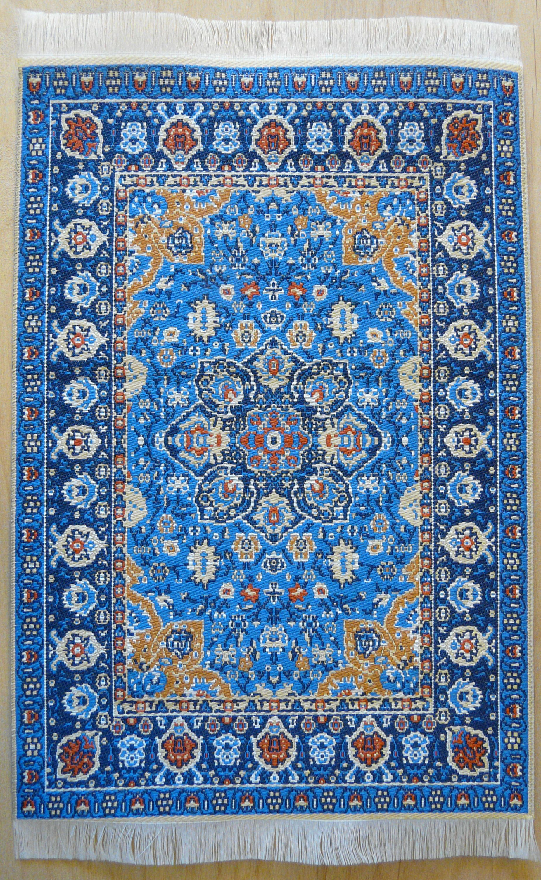 blue turkish rug w persian influence in design. Black Bedroom Furniture Sets. Home Design Ideas