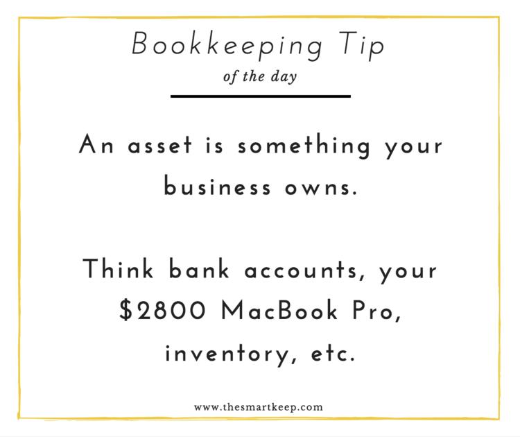 Bookkeepingtip AssEts