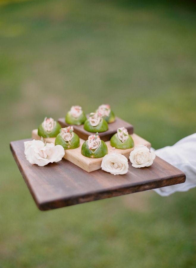 Mini tacos + lime: http://www.stylemepretty.com/2016/05/04/new-york-outdoor-garden-wedding/ | Photography: Heather Waraska - http://heatherwaraksa.com/