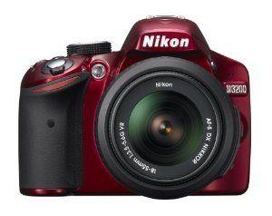 Nikon D3200 24.2 MP CMOS Digital SLR with 18-55mm f/3.5-5.6 AF-S DX VR NIKKOR Zoom Lens (Red)  Nikon $476.95