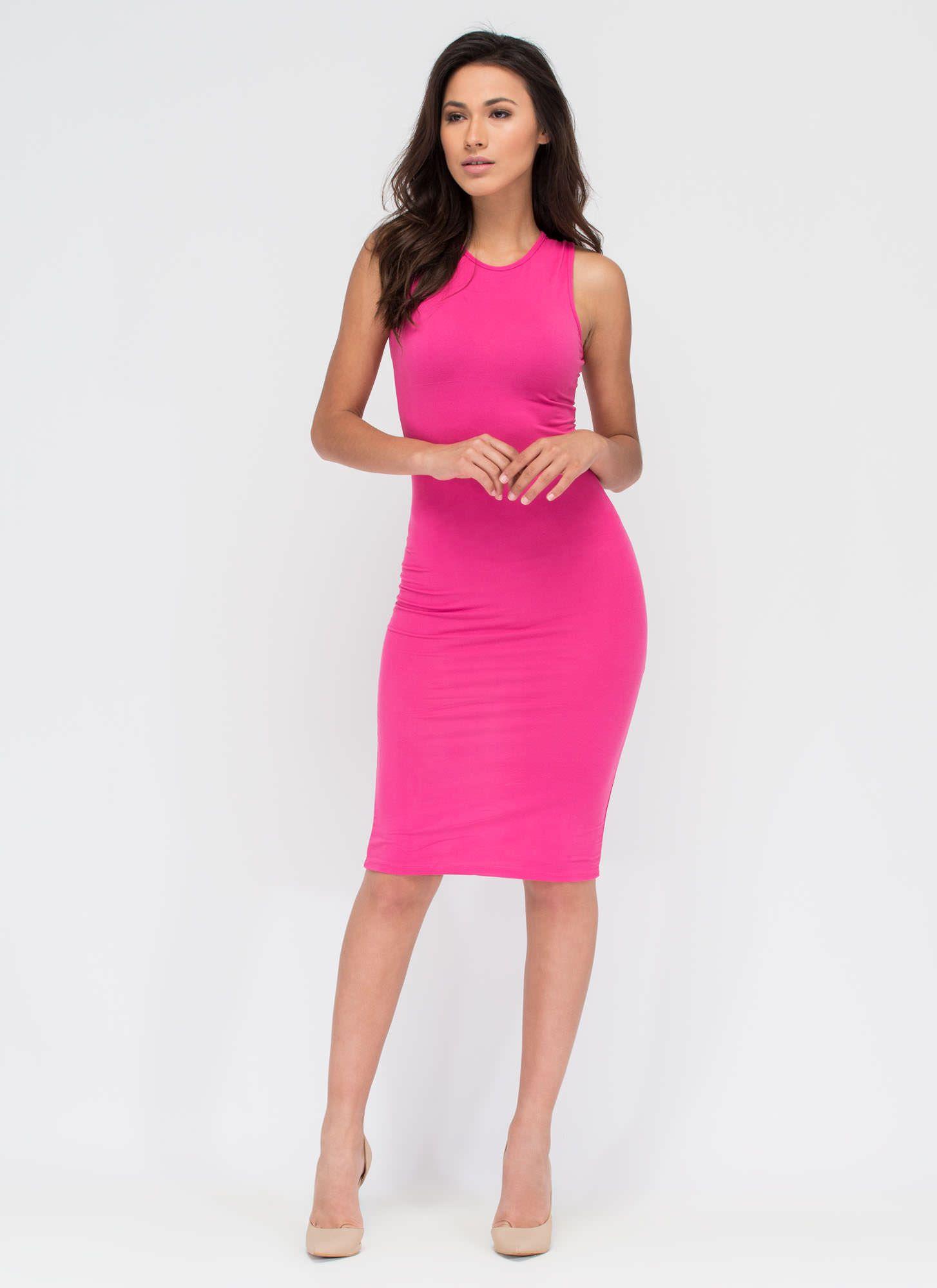 Basic Babe Midi Bodycon Dress Gojane Dress Pinterest