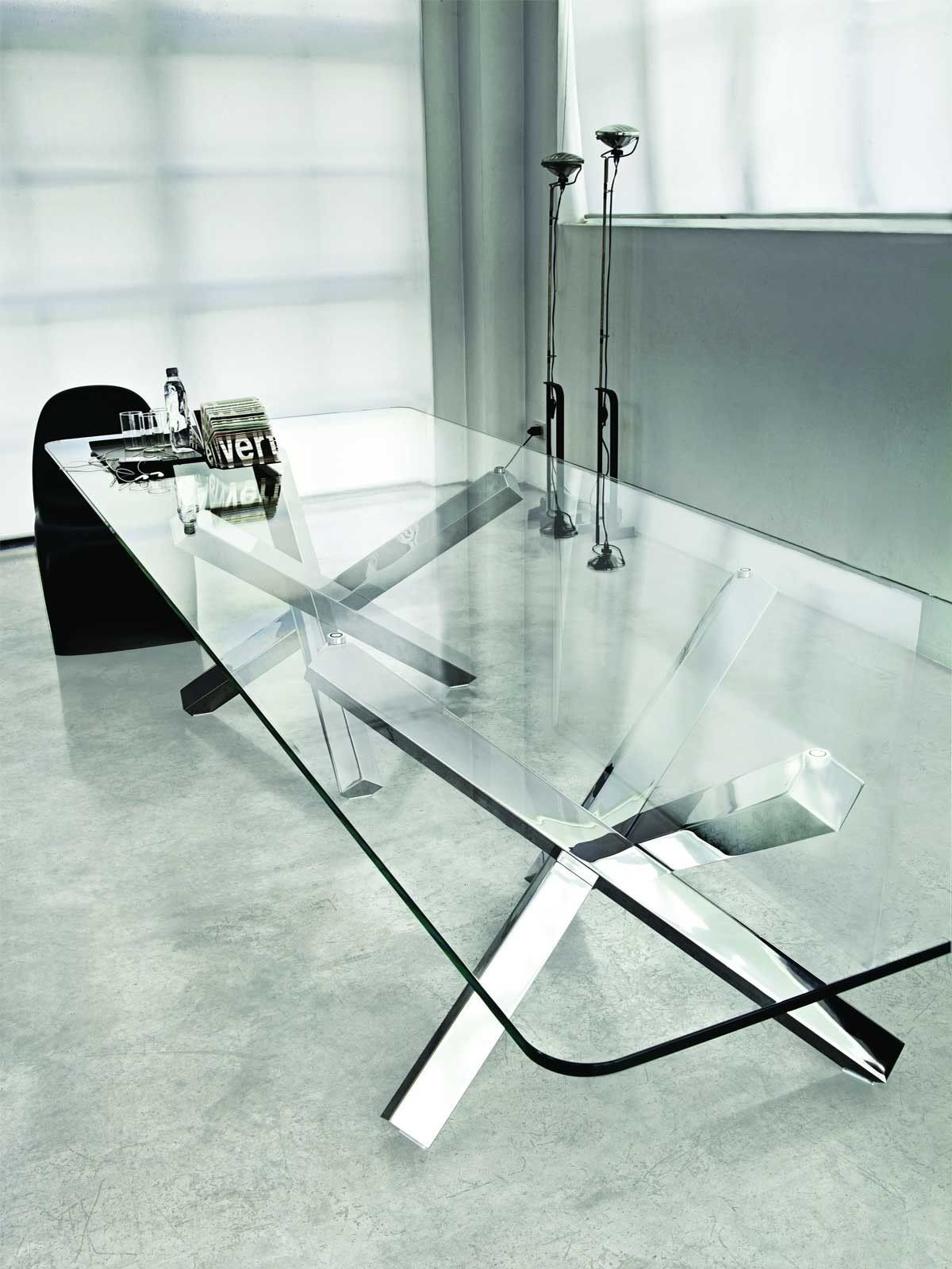 Aikido Dining Table White Glass Dining Table Glass Round