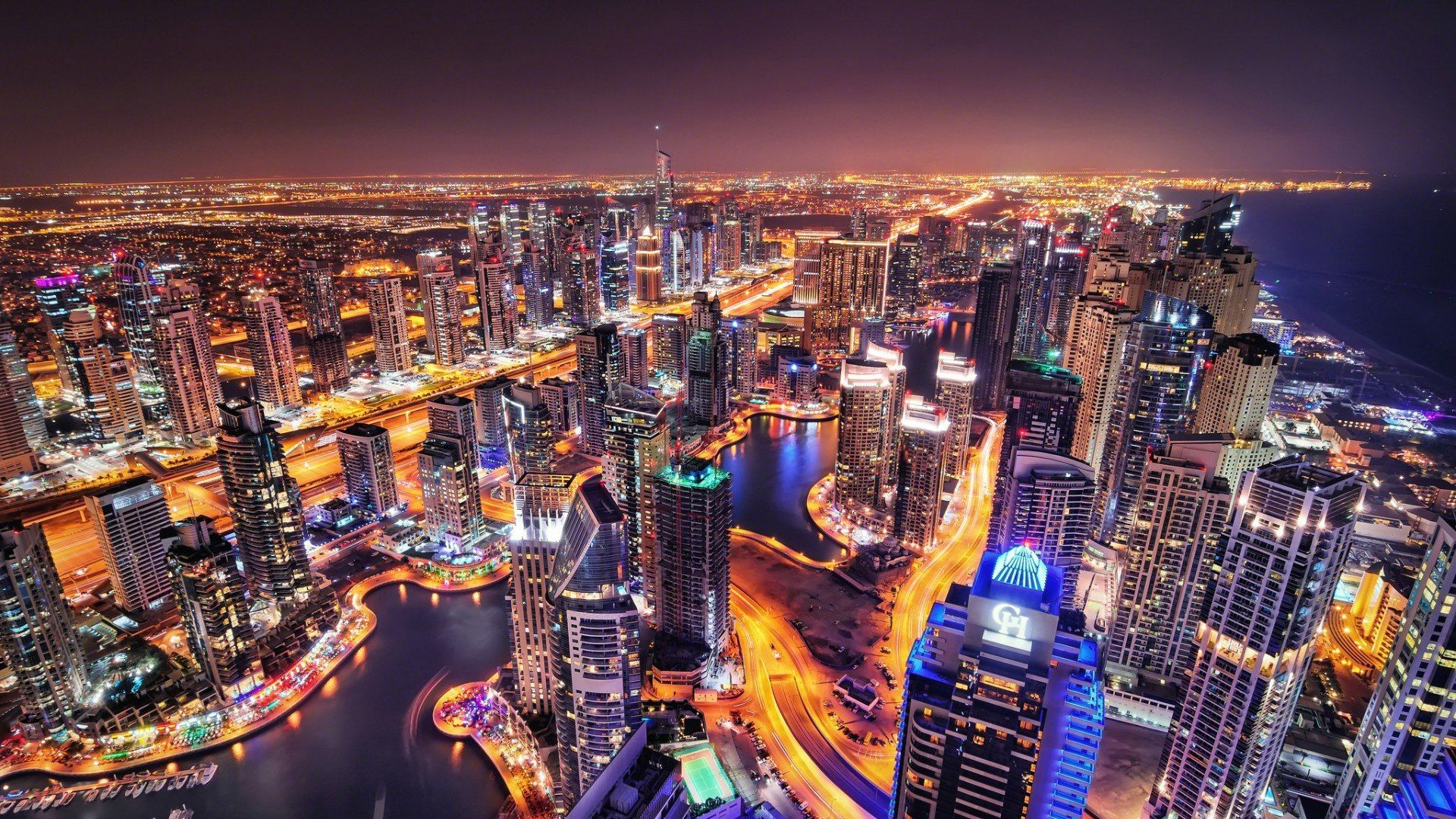 Dubai City Skyline Widescreen Hd Wallpaper Wallpaper Gallery 1920×1200 Dubai Wallpapers ...