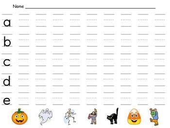 free halloween handwriting practice kindergarten 1st grade. Black Bedroom Furniture Sets. Home Design Ideas