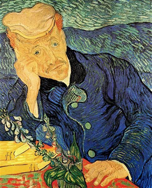 Dr. Paul Gachet, 1890 by Vincent van Gogh. Post-Impressionism. portrait. Musée d'Orsay, Paris, France