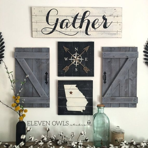 This Gather Sign Will Be The Signature Piece In Any Dining Room Kitchen Game