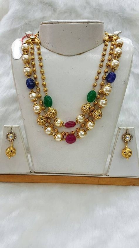multicolor american diamonds necklace sets jewellery. Black Bedroom Furniture Sets. Home Design Ideas
