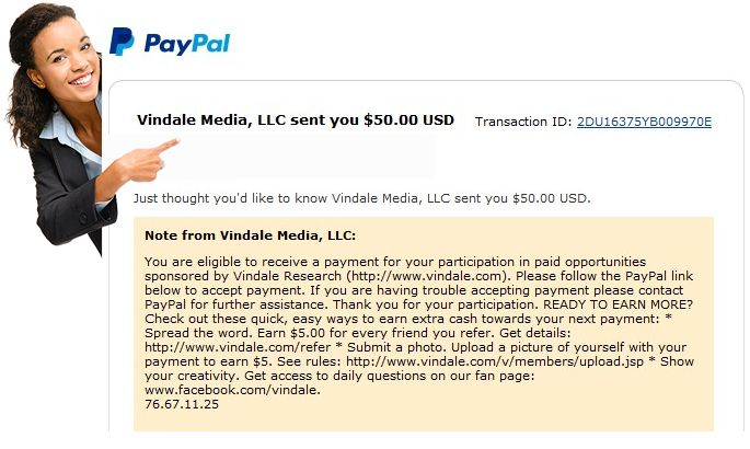 I Earn Daily Income From Vindale Research Here Is Proof Of My