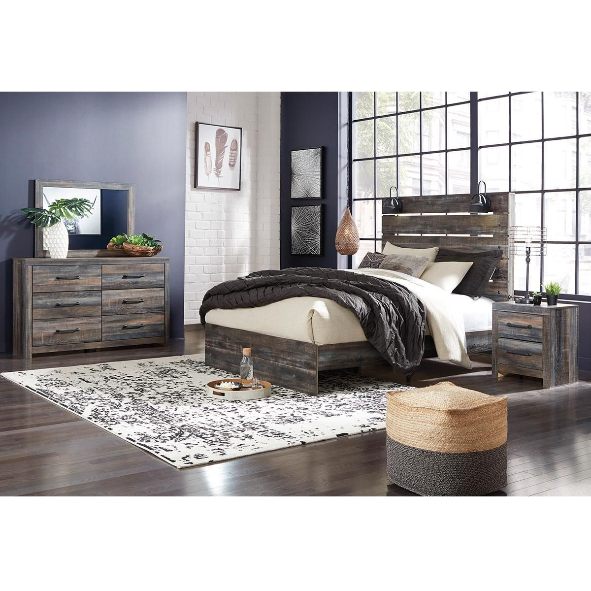 Signature Design by Ashley Drystan Queen Panel Bed in