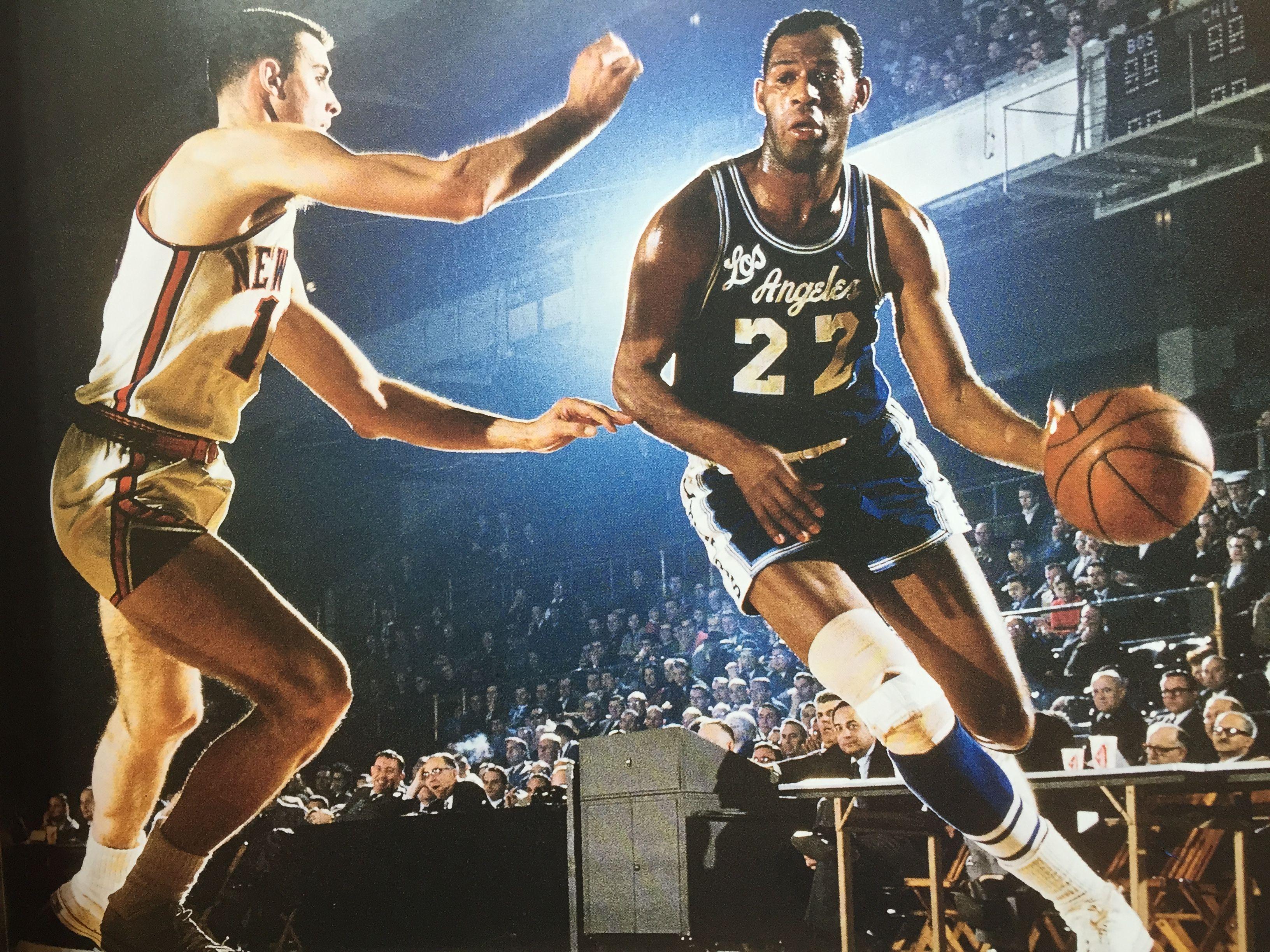 G Elgin Baylor drives NBA Los Angeles Lakers Pinterest