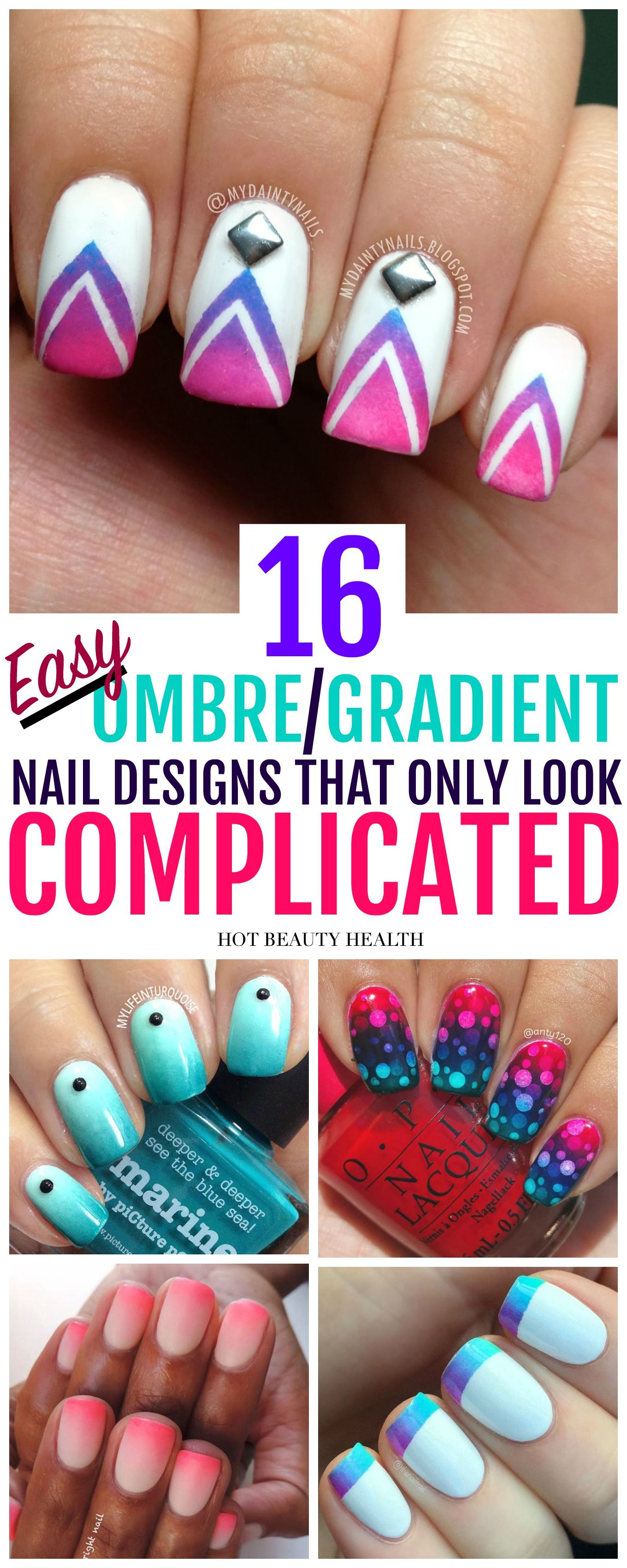 16 Ombregradient Nail Art Designs Thatll Make A Statement Cool