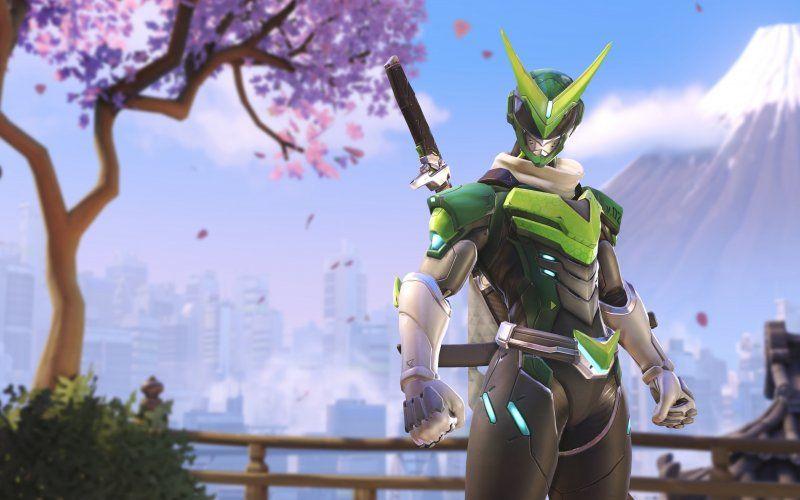 Wallpaper Overwatch Genji Green Skin Anniversary 2018
