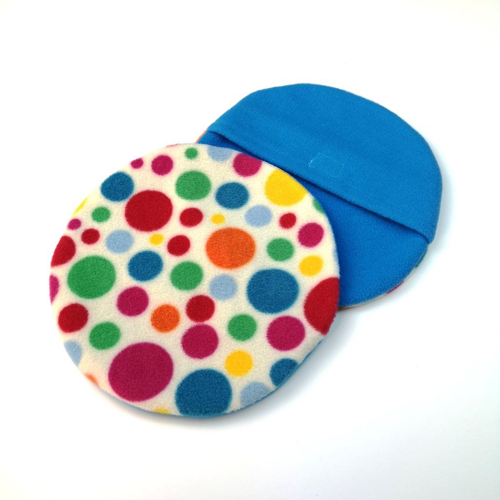 Set of 2 Replacement Heat Pad Covers (White Multi Dot