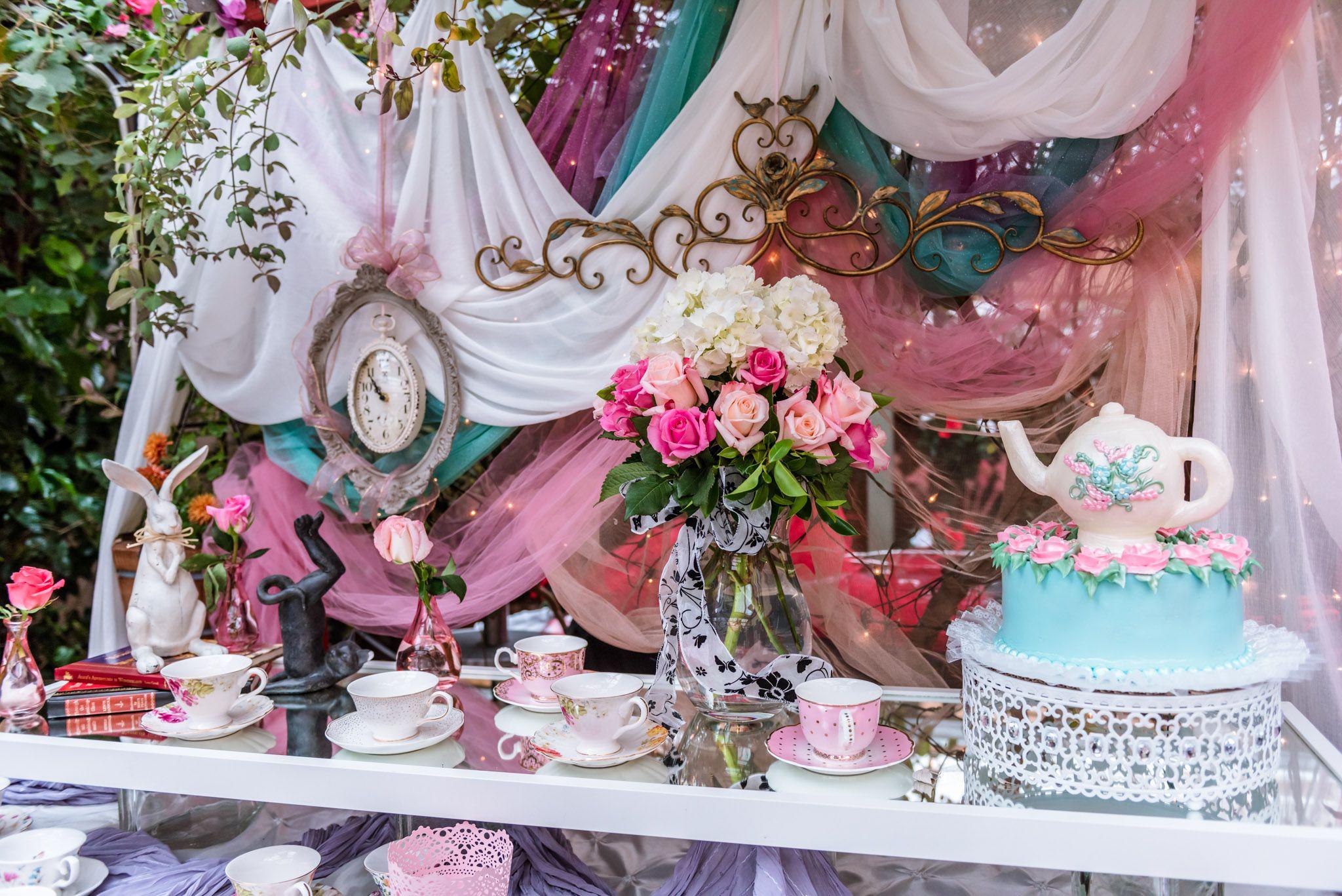 Sweet 16 Alice in Wonderland Party in Bexx Secret Garden ...