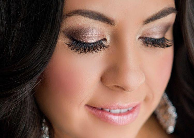 Hochzeits Make Up Braune Haare Dunkle Augen Wedding Makeup