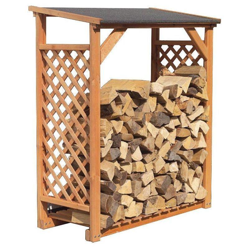 Abri A Buches Et Range Buches Exterieur In 2020 Wood Firewood