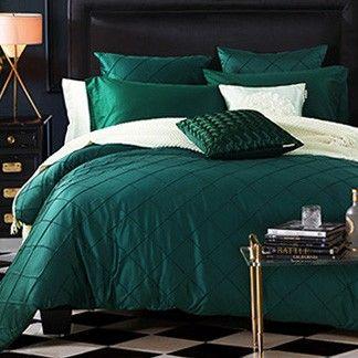 green bedding | Bedroom design, Green bedding, Teal duvet cover
