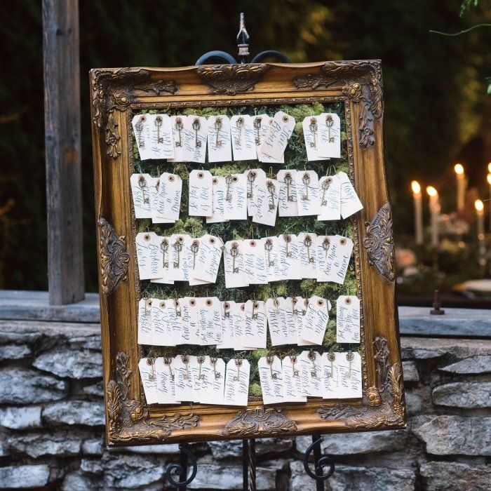 Key West Wedding Ideas: Each Escort Card Was Attached To A Key And Hung From A