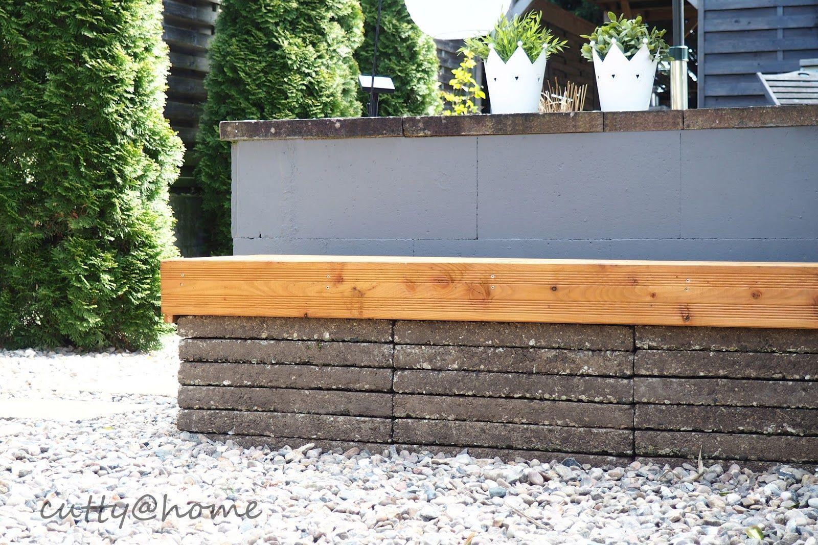 Gartenbank Diy Aus Waschbetonplatten Sitzflache Douglasienholz