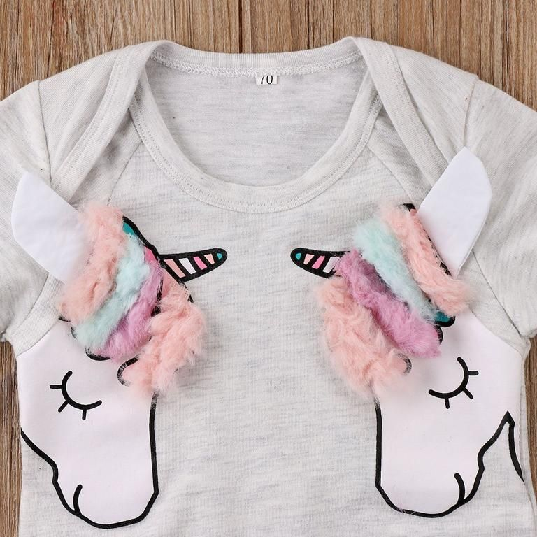 0692a241b9d Cute Unicorn Romper - The Trendy Toddlers