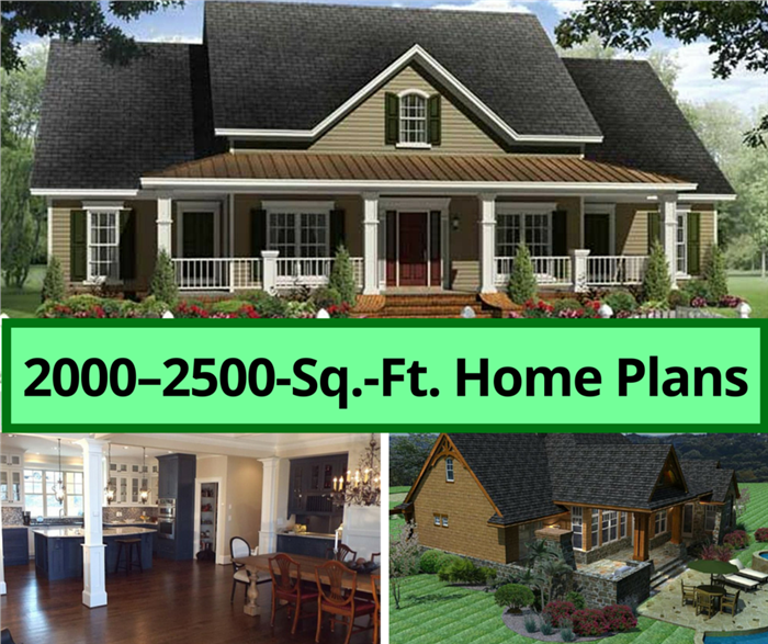 Montage of 3 images illustrating 200025000sqfthouse