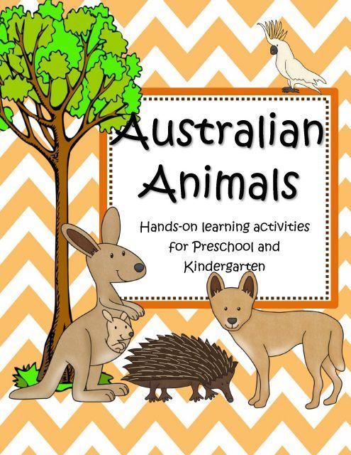 Australian Animals Theme Activities Printables Centers And Games For Preschool Pre K Kindergarten