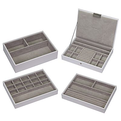 buy stackers jewellery box white putty online at. Black Bedroom Furniture Sets. Home Design Ideas