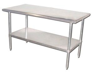 Fma Omcan Stainless Steel Commercial Work Prep Table 30\