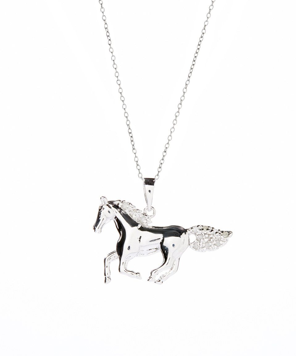 Silver Yellow Plated Horse Charm 25mm