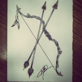 Tattoo Flecha Y Arco Moms Pinte