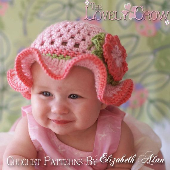 Hat And Booties Crochet Patterns Teaparty Set Includes Patterns For