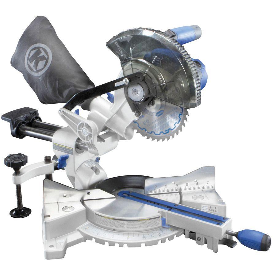Kobalt 7 1 4 In 9 Amp Bevel Sliding Laser Compound Miter Saw Sliding Compound Miter Saw Miter Saw Compound Mitre Saw