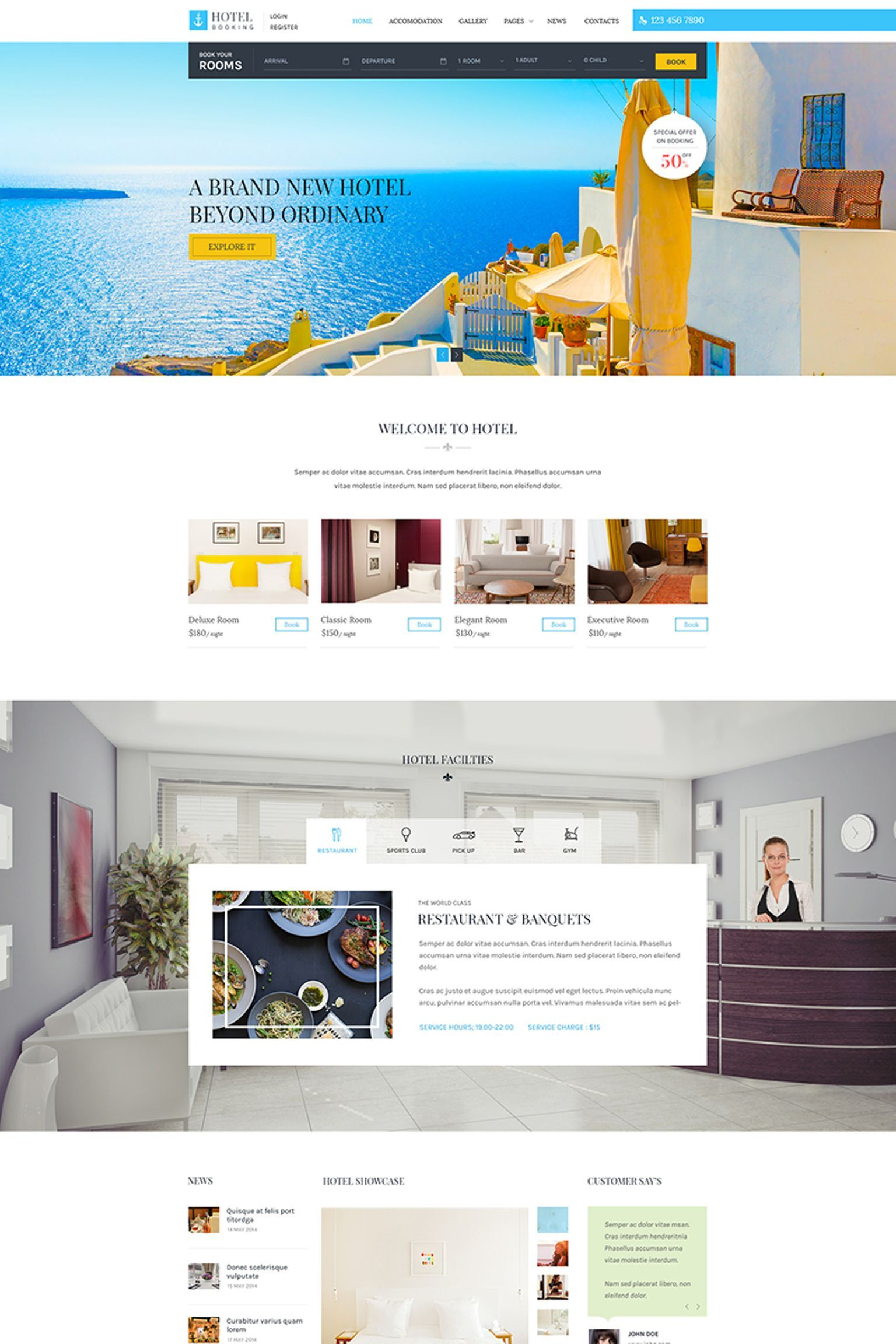 Hotel Booking Wordpress Theme 65731 Wordpress Theme Business