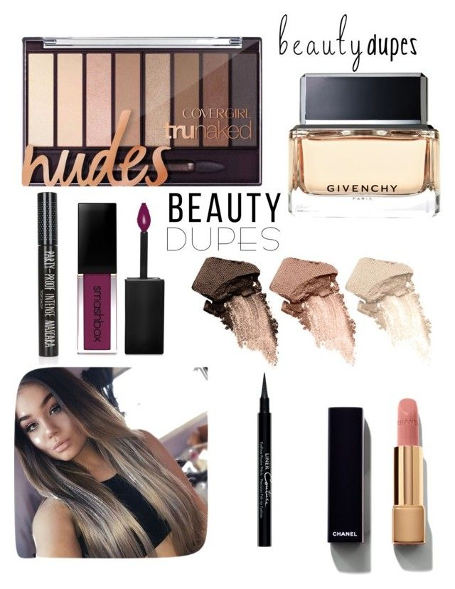 """All About That Nude"" by thu-nhim ❤ liked on Polyvore featuring beauty, Chanel, Urban Decay, Givenchy, Smashbox, Topshop and beautydupes"