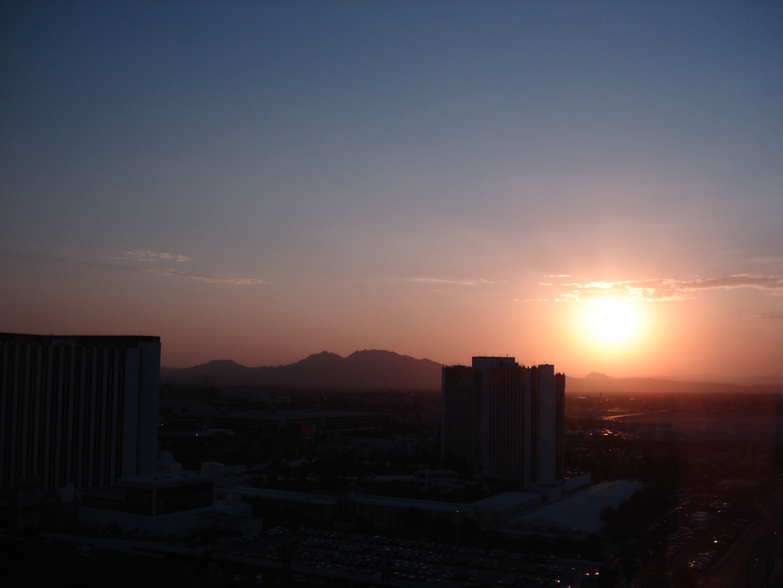 Las Vegas Vue from the Luxor Hotel Las Vegas Nevada