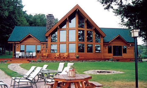 The Charlescroft By Linwood Homes Is A Large Post And Beam Cedar Classy Cedar Home Designs