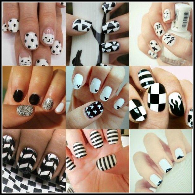 Black and White nail art trend-2   Nail Art   Pinterest   White nail ...