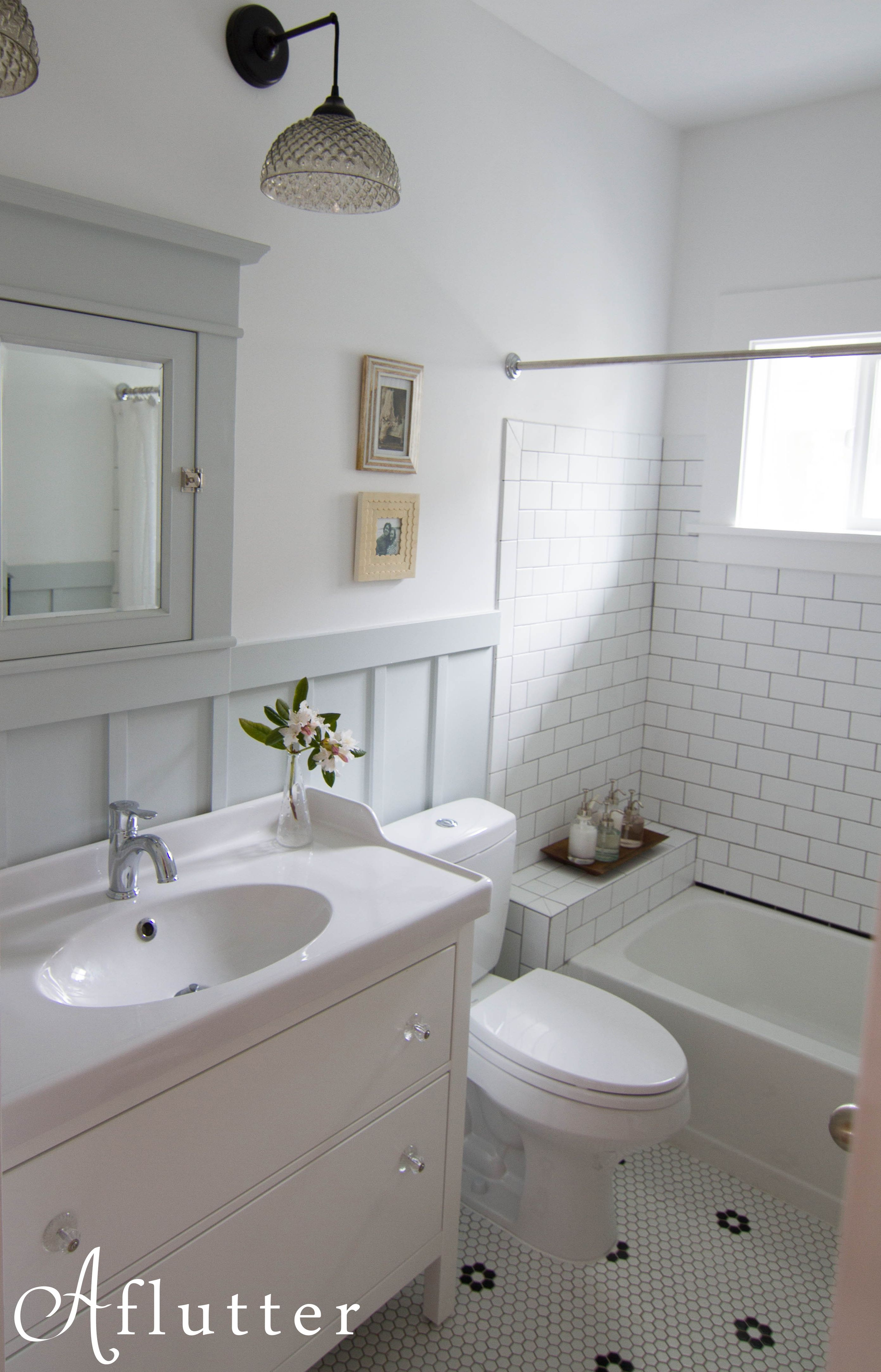 Ikea Hemnes vanity in bungalow bathroom. Ballard Bathroom Reveal ...