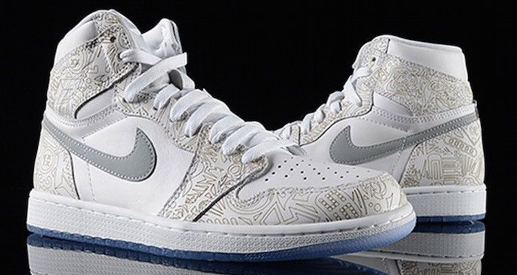 new product 9d858 1193c  705289-100  NIKE AIR JORDAN 1 RETRO HIGH OG LASER WHITE SILVER 30TH S10  Receipt  AIRJORDAN  AthleticSneakers