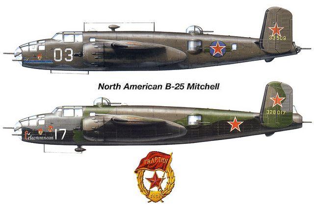 North American B-25, Soviet Ai...