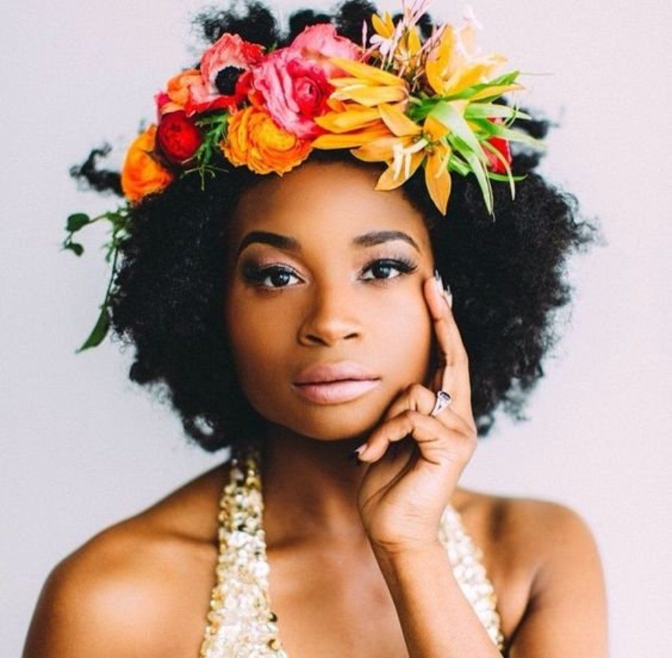 Natural hair flower crowns crown and makeup ideas black womens natural hair styles aahv black natural hair care products flower crown izmirmasajfo Image collections