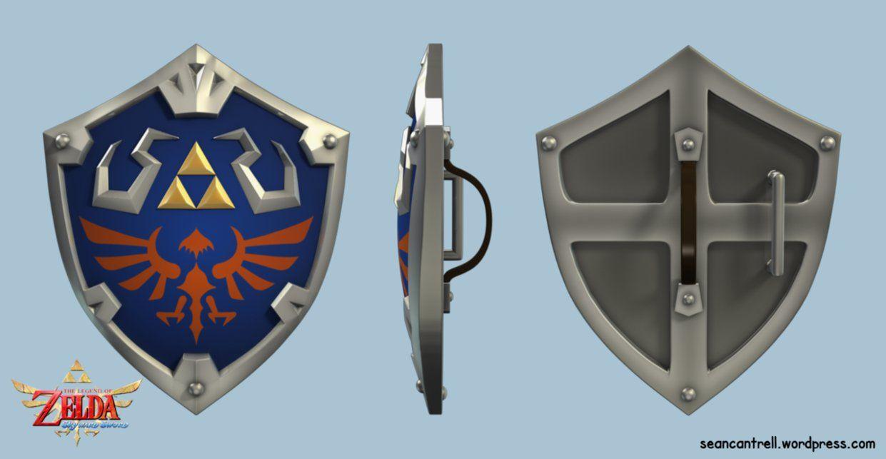 Loz Skyward Sword Hylian Shield By Seancantrell Skyward Sword Zelda Master Sword Zelda Art