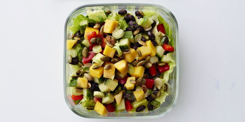 Pepper And Black Bean Salad With Citrus Dressing Recipe Stuffed Peppers Citrus Dressing Recipe Healthy Meat Recipes
