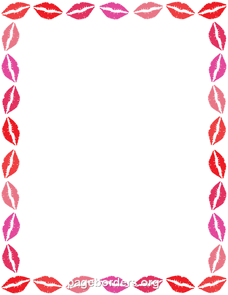 printable lips border use the border in microsoft word or other rh pinterest com