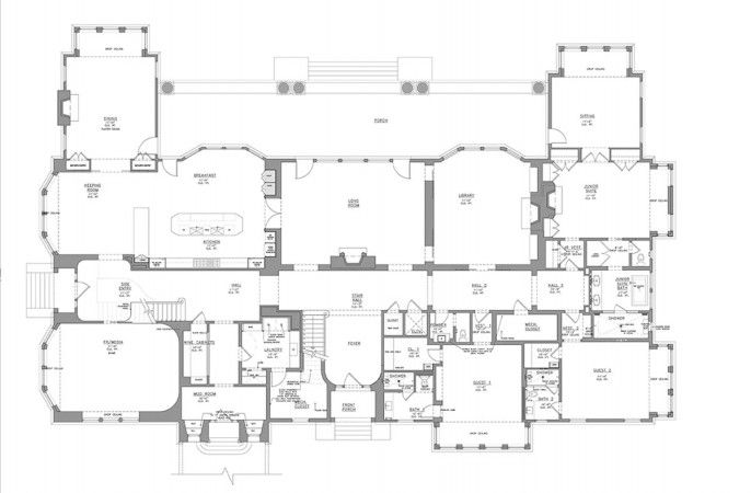 My Hampton Homes Water Mill Real Estate Mansion Floor Plan Architectural Floor Plans Vintage House Plans