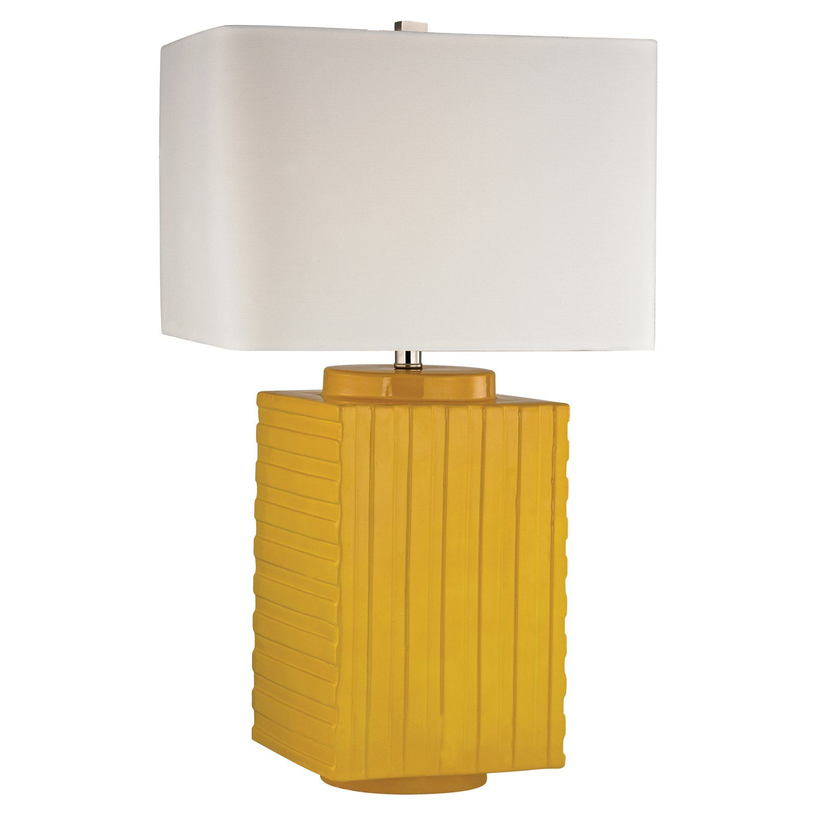 Hgtv Home Energy Yellow Ceramic Table Lamp Www Hayneedle Com Ceramic Table Lamps Lamp Table Lamp