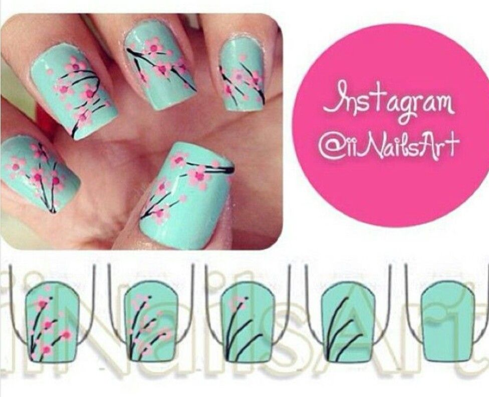 Arizona green tea nail art   DIY - nail art   Pinterest   Diseños de ...