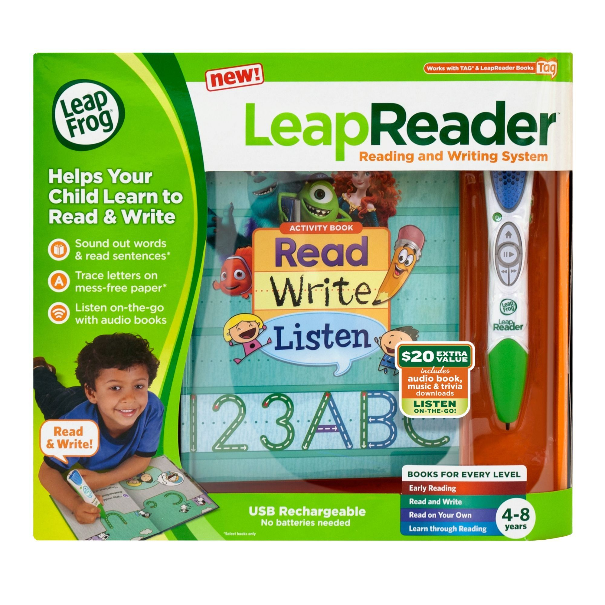Amazon LeapFrog LeapReader Reading and Writing System Green