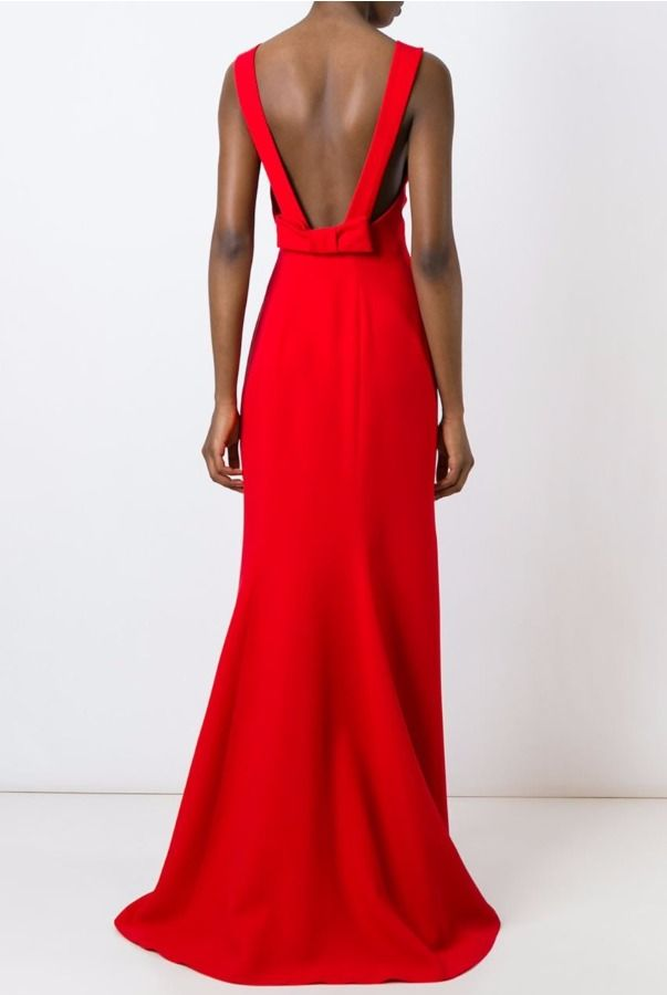 Capucci Red Open Back Gown Dress Rent For 130 Prom And Formal